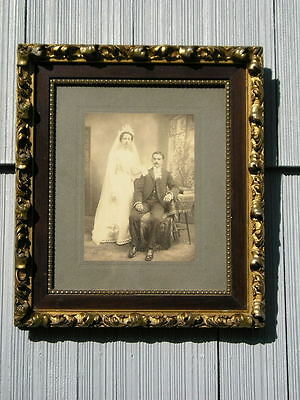 Rare Antique Aesthetic Eastlake Victorian Ornate Picture Frame Wedding Pic 10~12