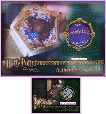 Chocolate Frog Wizard Candy Prop Trading Card Harry Potter PS SS Very Rare