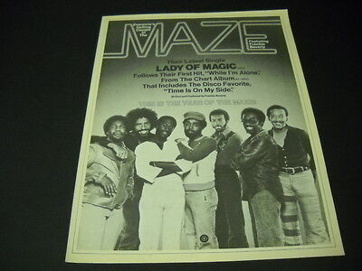 MAZE Frankie Beverly 1977 PROMO POSTER AD Everyone's Getting Caught.. LADY MAGIC
