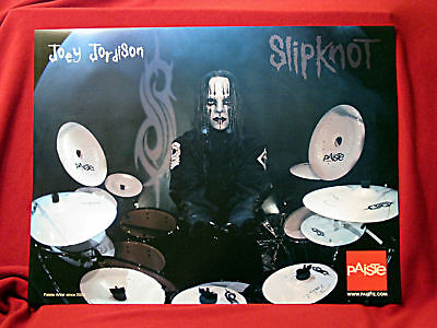 TWO<<>>Slipknot *Joey Jordison* Paiste Cymbals Promo Posters