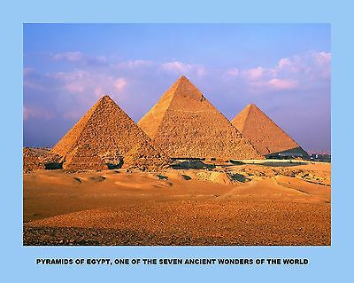 7 Copies Of Prints Of  The Seven Wonders Of The Ancient World