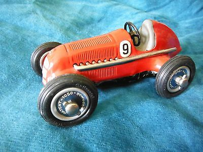 Original Schuco Studio 1050 Mercedes Wind Up Toy Race Car US Zone Germany Works!