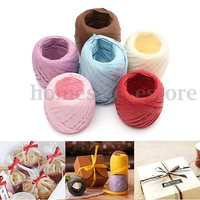 20M 7mm Raffia Paper Ribbon Decorating Flowers Gifts Wrap Crafts Scrapbooks