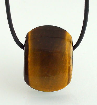 Hand Polished Tiger Eye Pendant - very energetic