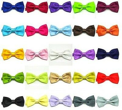 NEW Boys Childs Kids Satin Bow Tie Dickie Bow Pre-Tied - Lots Of Colours  ETC UK