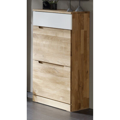 top garderobenschrank eiche massiv flurschrank dielenschrank garderoben kommode eur. Black Bedroom Furniture Sets. Home Design Ideas