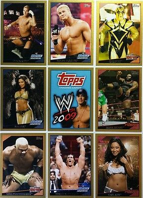 WWE 2009 GOLD PARALLEL Card singles / 500   TOPPS choose