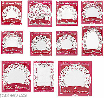 Paper Doilies Round Lace Oval Party Tableware Decorations Cake Coasters Wedding