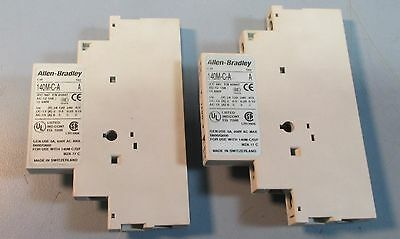 Lot of 2 Allen Bradley 140M-C-A Auxiliary Contact Series A 5A, 600 VAC Max Used
