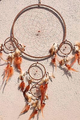 Large Brown Dream Catcher Handmade w/ Feather Home Car Wall Decor ( Qty 2 )