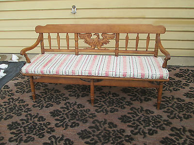 55190 Solid maple CUSHMAN Sofa Settee Couch Chair