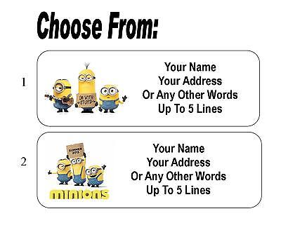 30 Minions Movie Personalized Address Labels