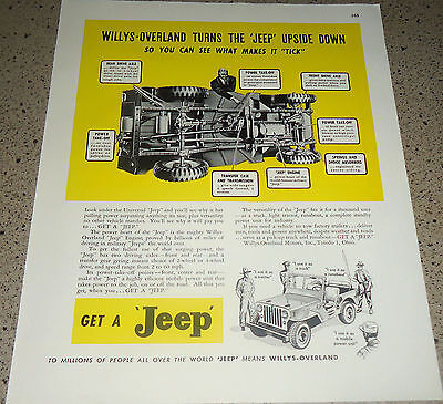 1946 JEEP Willys-Overland AD w/ view of the underside