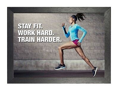 Motivational 400 Motivation Inspiration Quote Poster Fit Gym Running Body Sport