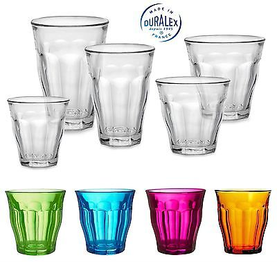 Duralex Picardie Sets 4 or 6 Toughened French Glass Tumblers, All Sizes Colours