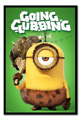 Framed Minions Going Clubbing Poster New