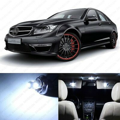 16 x Xenon White LED Interior Light Package For 2008 -2013 Mercedes C Class W204