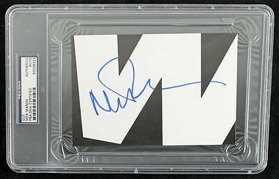 Nick Mason Pink Floyd Authentic Signed 4.5X6.5 Cut Autographed PSA/DNA Slabbed