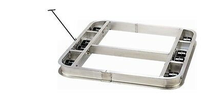 """Flat Reinforced Pallet Dollie 36""""x36"""" -- 6 Rollers 4000# & Handle -FREE SHIPPING"""