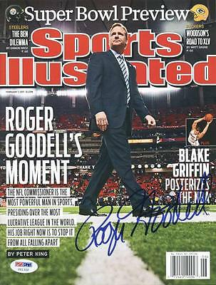 Roger Goodell Authentic Signed Sports Illustrated 2011 PSA/DNA