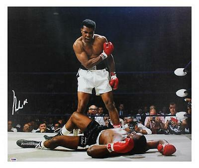 Muhammad Ali Signed 20X24 Canvas With Graded 10 Autograph! PSA/DNA #4A54180
