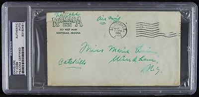 Tigers Ty Cobb Signed Authentic 1960 Envelope PSA/DNA Slabbed #83182491