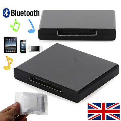 Bluetooth A2DP Music Audio Receiver 30Pin Adapter for iPad iPhone Speaker Dock