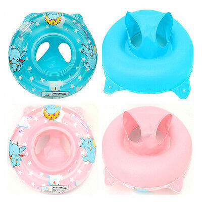 Inflatable Swimming Ring/Seat Handles Toddler Baby Safety Aid Float Pool Toy
