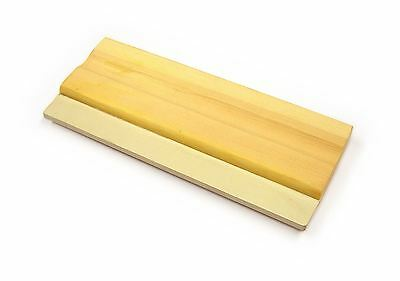 Silk Screen Printing Squeegee Wooden Handle Rubber Blade 2 Sizes A4 or A3 Craft