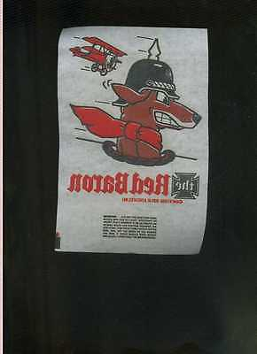 Vintage 1967 Red Baron Iron-On Transfer Snoopy RARE!
