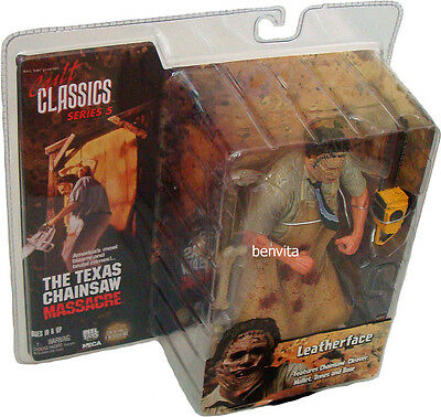 The Texas Chainsaw Massacre Cult Classics S.5 Leatherface 18 cm Figur Neca - Neu