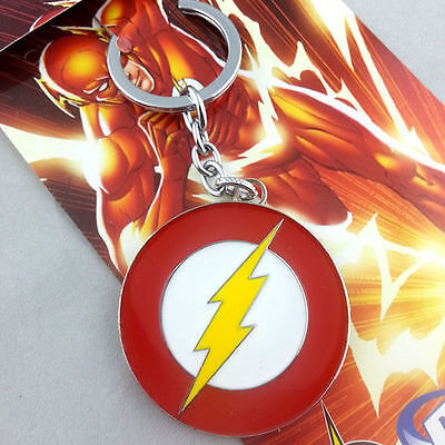 The Flash Lightning Logo Metal Keychains NEW & HOT