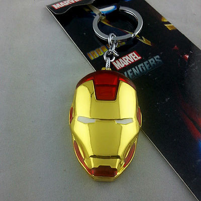 Marvel Comics Iron Man Head Golden Mask Metal Keychain NEW HOT Combine Shipping