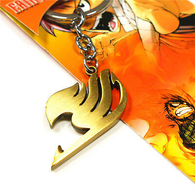 FAIRY TAIL Natsu Dragneel  Guild  keychain copper key ring chain