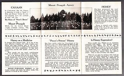 [53697] Circa 1932 MOUNT PEASGAH APIARY HONEY GUIDE (CANAAN, CONNECTICUT)
