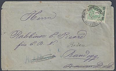 Palestine Austria Offices 1890 Jerusalem First Cancel Steichele 543 Gerusalemee