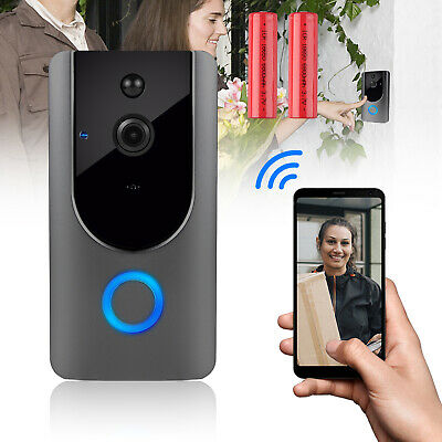 Wireless Smart Video Phone WiFi IR Night Visual Camera Record Security Door Bell