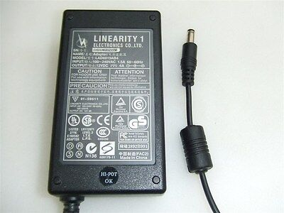 Genuine Linearity 1 LCD Monitor Power Supply LAD6019AB4 12V 4A AC Adapter Cable