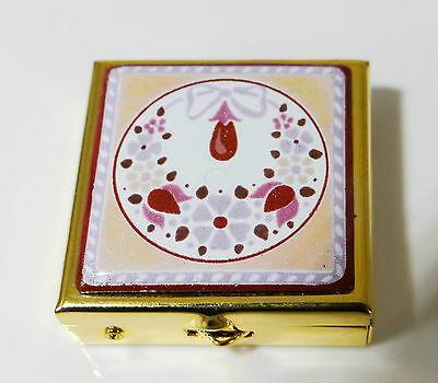 MICHAELA FREY Wille Vintage Pillenbox Tablettenbox Dose pillbox enamel MF216