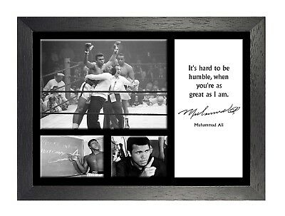 Muhammad Ali 13 American Boxer Poster Motivation Quote Black and White Fight