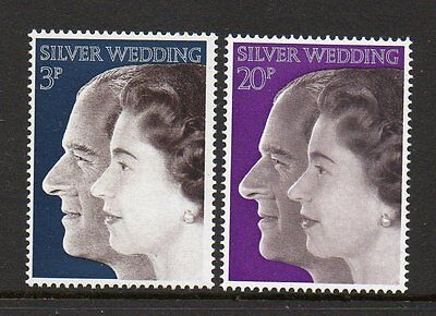 GB 1972 Royal Silver wedding unmounted mint set stamps