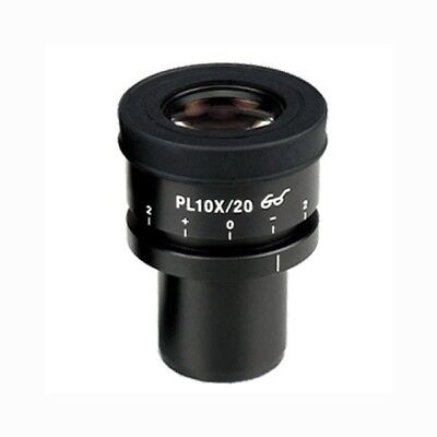 AmScope Focusable Extreme Widefield 10X Microscope Eyepiece w/ Reticle (30mm)