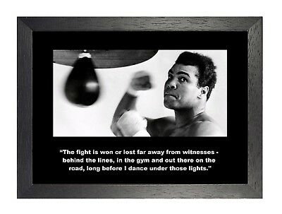 Muhammad Ali 3 Quote Boxing Motivation Determination Inspiration Quote Poster
