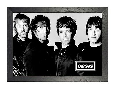 Oasis 3 English Rock Band Poster Liam Gallagher Star Rock Music Black and White