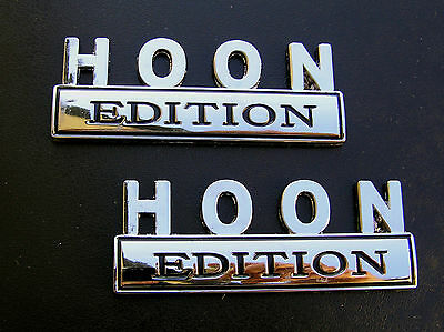 ~ HOON EDITION PAIR CAR BADGES Chrome Metal Emblems *NEW* suit HOLDEN COMMODORE