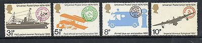 GB 1974 Centenary of UPU unmounted mint set stamps