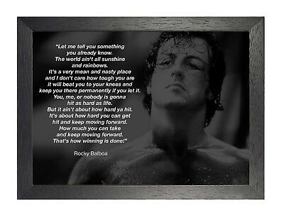 Rocky Balboa 11 Sylvester Stallone Motivation Quote Photo Inspirational Poster