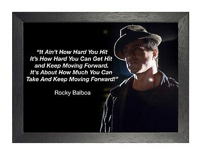Rocky Balboa 22 Sylvester Stallone Photo Motivational Film Quote Hat Poster