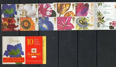 GB 1997 Greetings Booklet SGKX10 unmounted mint booklet set stamps