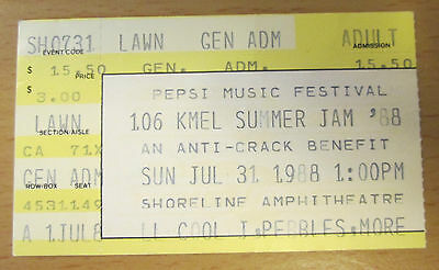 1988 Ll Cool J Pebbles Keith Sweat Fat Boys Expose San Fran Concert Ticket Stub